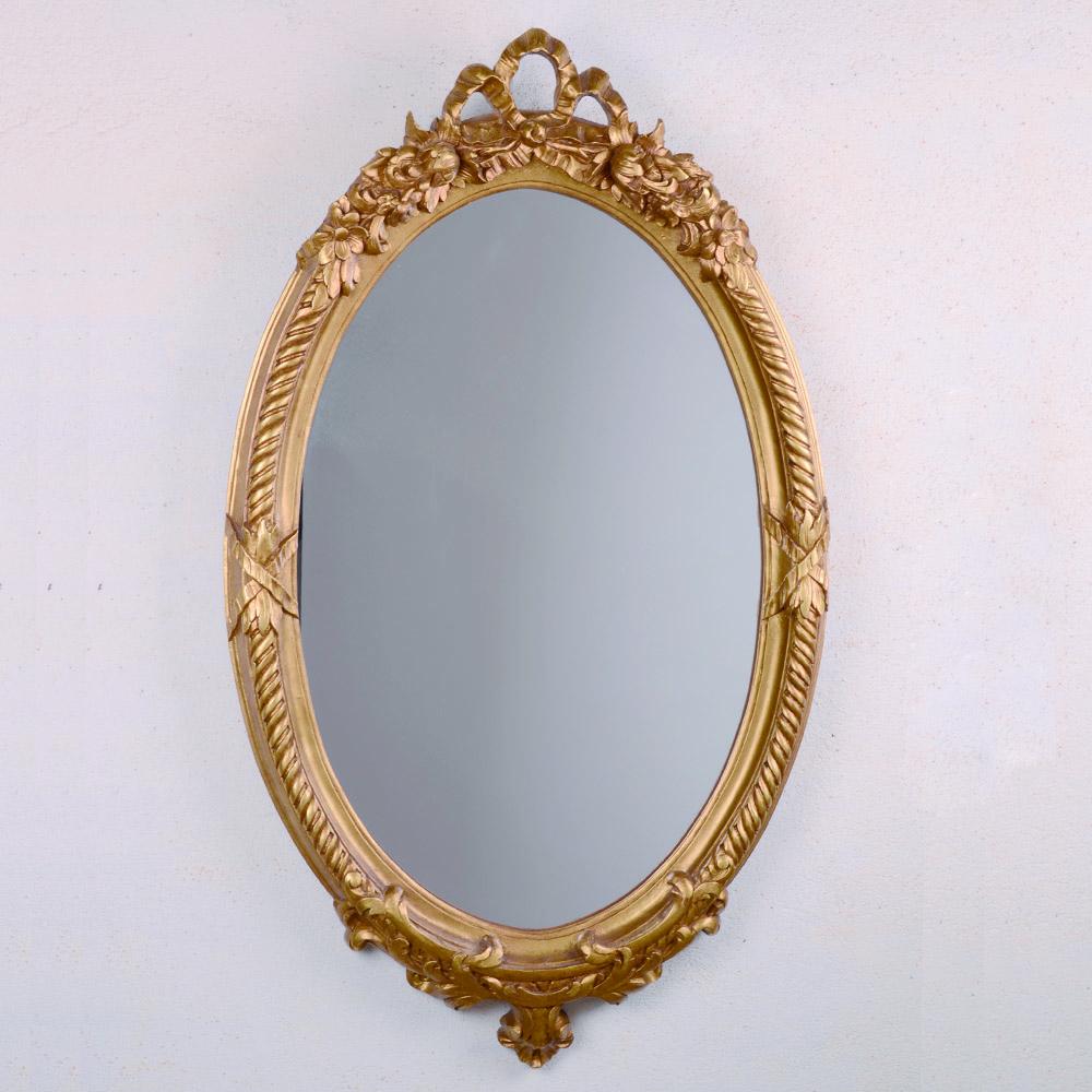 Espejo ovalado estilo franc s oro for Espejo ovalado