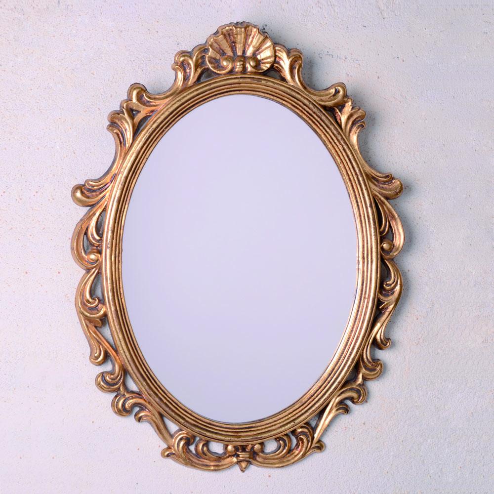 Espejo ovalado venus oro for Espejo ovalado